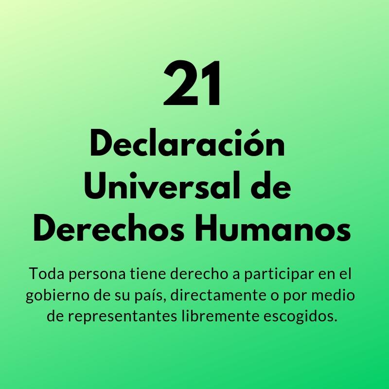 Artículo 21 de la Declaración Universal de los Derechos Humanos