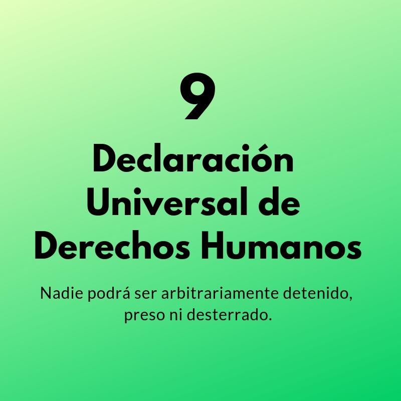 Artículo 9 de la Declaración Universal de los Derechos Humanos
