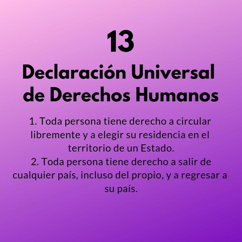 Artículos 13 y 14 de la Declaración Universal de los Derechos Humanos