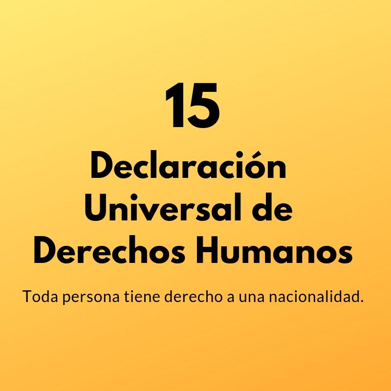 Artículo 15 de la Declaración Universal de Derechos Humanos
