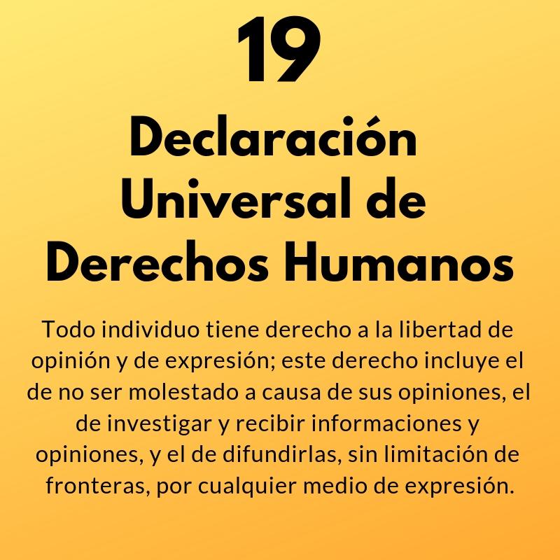 Artículo 19 de la Declaración Universal de Derechos Humanos