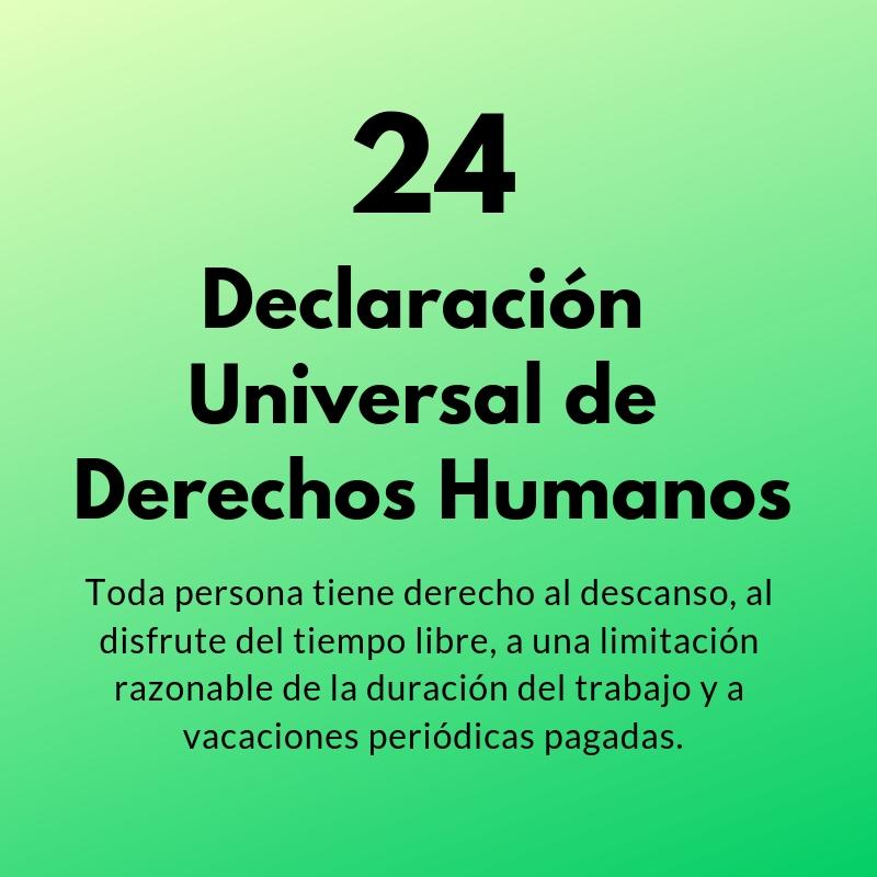 Artículo 24 de la Declaración Universal de los Derechos Humanos
