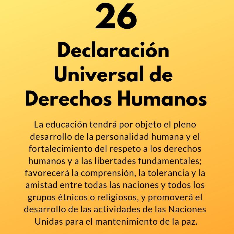 Artículo 26 de la Declaración Universal de Derechos Humanos