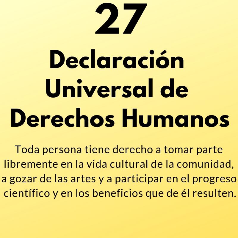 Artículo 27 de la Declaración Universal de Derechos Humanos