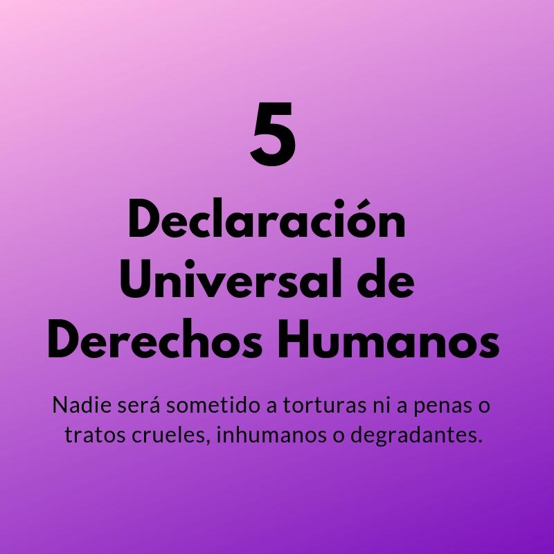 Artículo 5 de la Declaración Universal de los Derechos Humanos